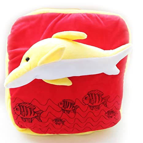 7af316289247 Stuff Jam Kiddie Backpack - Fish Pittu - 12 Inches Red Yellow  Amazon.in   Bags
