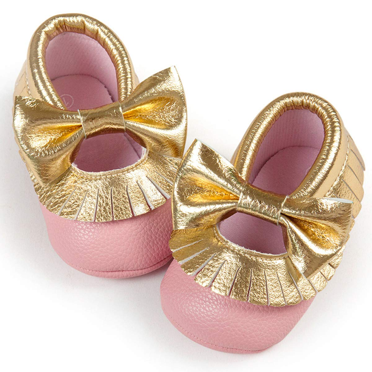 Infant Toddler Baby Girl Mary Jane Soft Sole Princess Shoes Prewalker Crib Dress Shoes