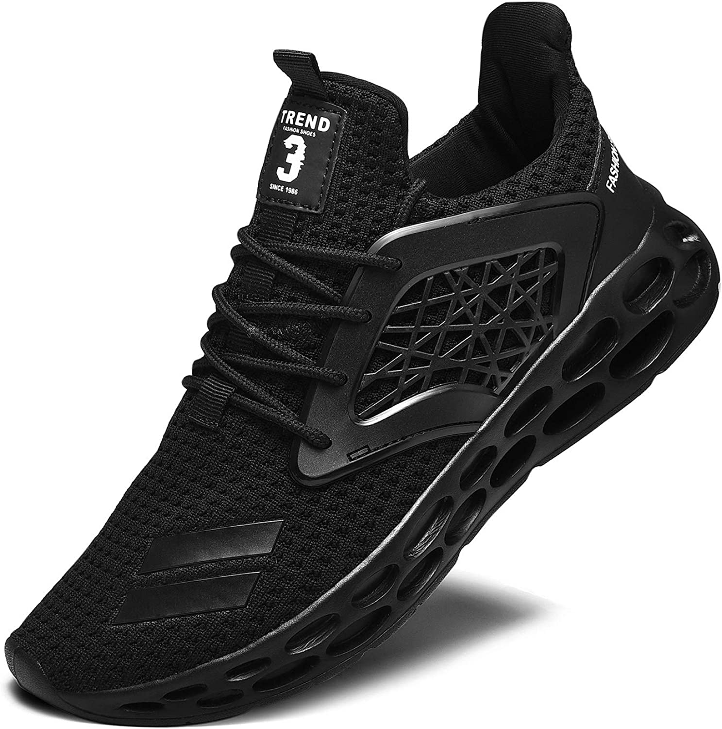 RELANCE Men's Running Shoes, Lightweight Casual Sneakers Workout Sport Athletic Shoes for Training Tennis Jogging Footwear