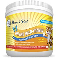 Infant Multi-Vitamins by Mama's Select for Immune Support, Children's Growth & Development, 25-Serving Per Container, No Artificial Colors, Flavors or Preservatives, Natural Baby Vitamins
