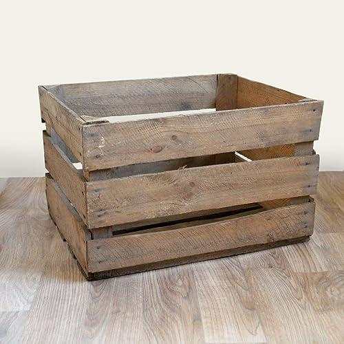 12 X Rustic 3 Slat Design Vintage Wooden Apple Crates Amazoncouk