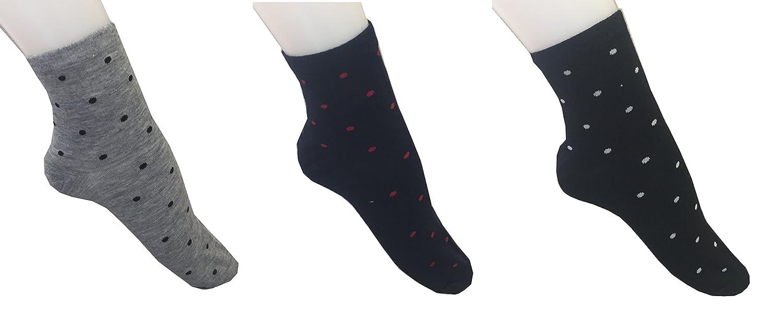 Yanoir - 3 pares de calcetines deportivos Trandy a lunares - Calcetines cortos (altura hasta el tobillo) - Calcetines modernos para hombres, FANTASIA 1, ...