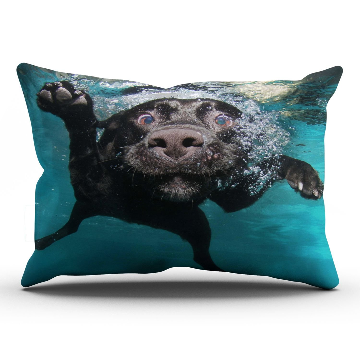 ZeDae Animal Dog Dog Water Underwater Black Labrador Personalized Pillowcases Beauty Decorative Pillow Case Cover 20x36 Inches Pillowcase One Sided