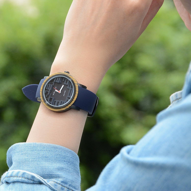 Relax Akku Frauen Analog Armbanduhr Blau