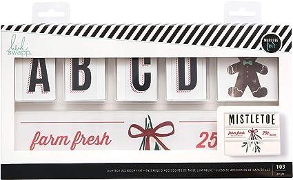 Multicolor Heidi Swapp Mistletoe Lightbox Accessory