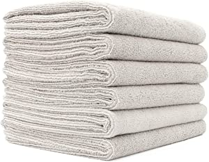 The Rag Company 16 in. x 27 in. Spa, Gym, Yoga, Exercise, Fitness, Sport and Workout Towel - Ultra Soft, Super Absorbent, Fast Drying Premium Weight Microfiber Terry