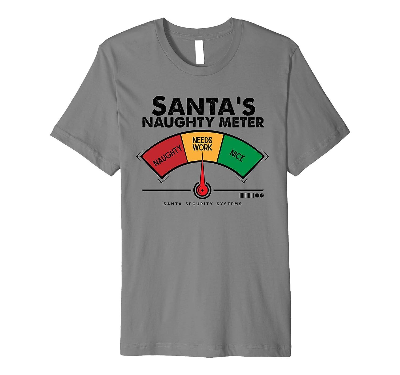 Christmas Shirt.Santa Needs Work Meter Funny Christmas Shirt For Adults Kids Anz