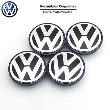 Recambio Original Volkswagen VW Tapacubos Llanta de Aluminio (Golf 5, 6, Jetta, Beetle, Passat B6...) 76mm..) Juego de 4 piezas ...: Amazon.es: Coche y moto