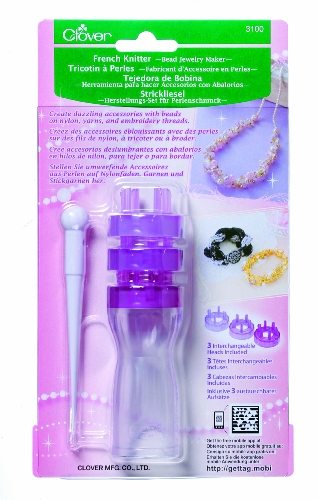 Clover 3100 French Knitter Bead Jewelry Maker with 3 Interchangeable Heads ()