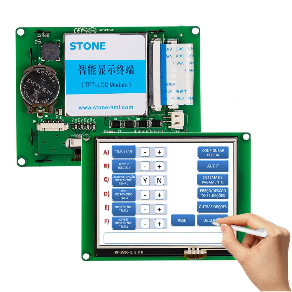STONE 3.5'' UART HMI Smart LCD Touch Display Module Brand STVI035WT-01 for Instrument