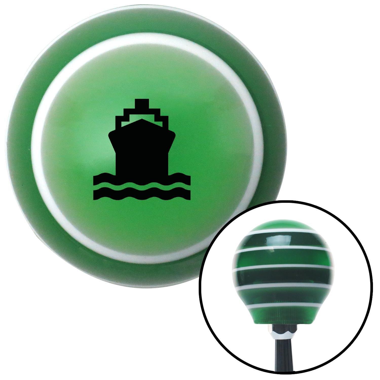 Black Boat American Shifter 125000 Green Stripe Shift Knob with M16 x 1.5 Insert