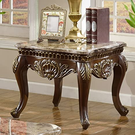 Amazon.com: Meridian Muebles Catania mesa auxiliar cuadrada ...