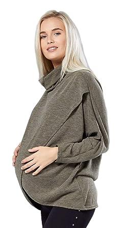 3e504be2a173c Womens Maternity Nursing Wrap Top Thin Knitwear Double Layer. 370p (Khaki