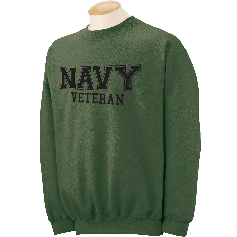 ZeroGravitee Navy Veteran Black logo Military Style Physical Training Crewneck Sweatshirt PA-1530