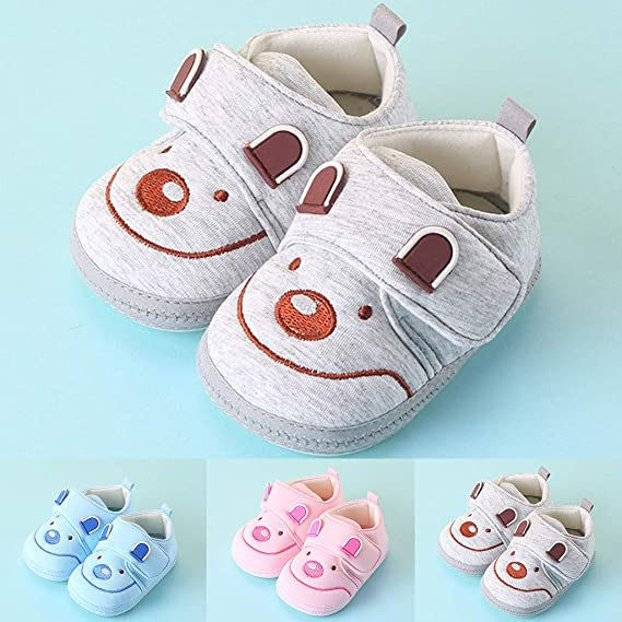 Amazon.com: Sameno First Walking Baby Shoes 0-9M Cartoon ...