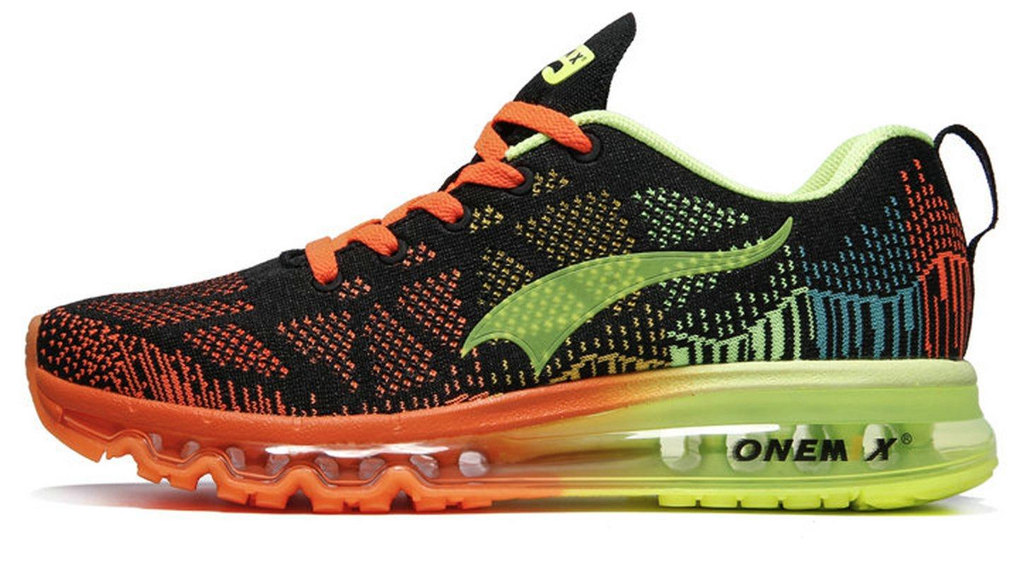 Onemix Air Zapatos para Correr en Montaña y Asfalto Aire Libre y Deportes Zapatillas de Running Padel para Hombre 44 EU Verde negro