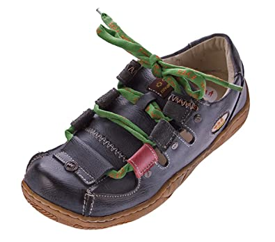 TMA Damen Sandalen Echtleder Sandaletten Halbschuhe Leder Schuhe TMA 1338 Gr. 36 42