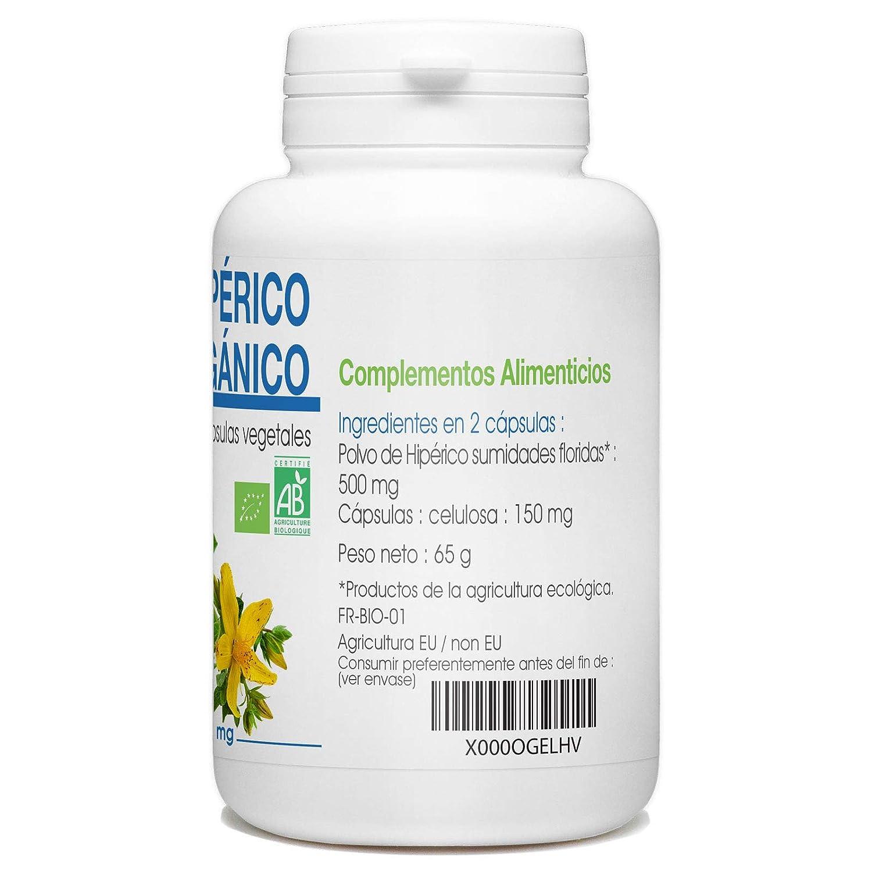 Hierba de San Juan - Hipérico Orgánico - 250mg - 200 cápsulas vegetales: Amazon.es: Salud y cuidado personal