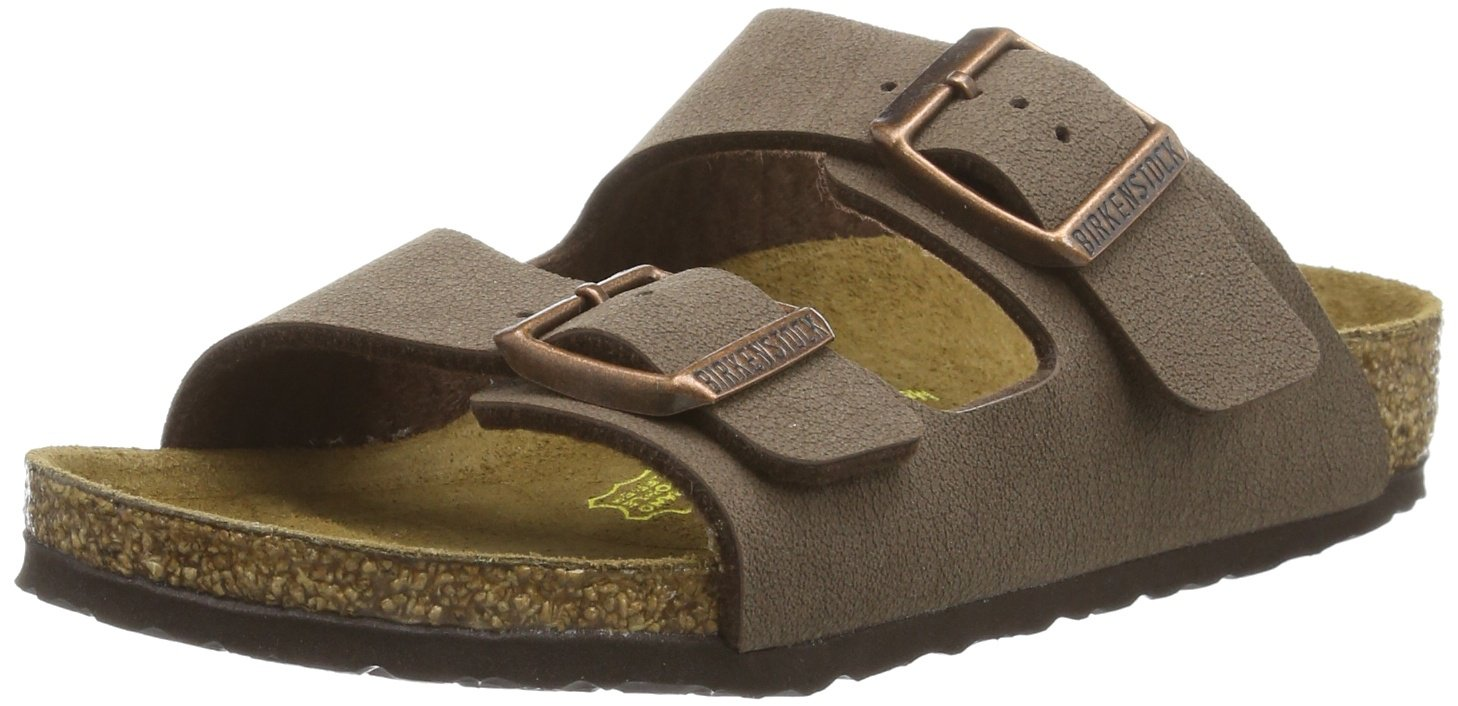 Birkenstock Sandals ''Arizona Kids'' from Birko-Flor in mocca 26.0 EU N by Birkenstock