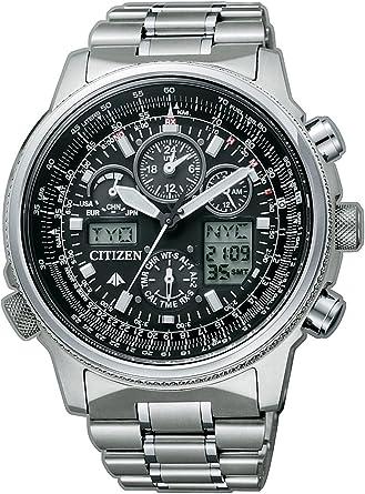 Citizen super pilot radiocontrollato titanio jy8020-52e - orologio da polso uomo