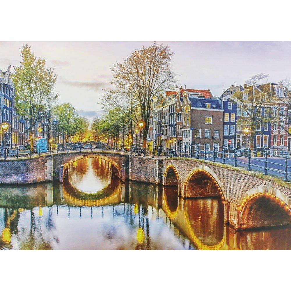 Toys /& Games Amsterdam Bridge 500 Piece Jigsaw Puzzle Brand New
