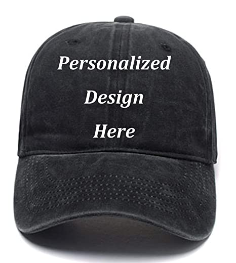 Funny Men Women Baseball Caps Add Logo Text Image Custom Retro Wash ... 1902965fb