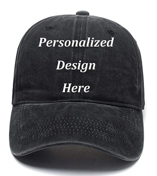 e9804cf928c4c Funny Men Women Baseball Caps Add Logo Text Image Custom Retro Wash ...