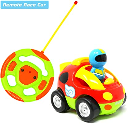 Big Mo s Toys Cartoon RC Race Car – Beginner s Remote Control for Toddlers  and Kids with 0c64c3fd4