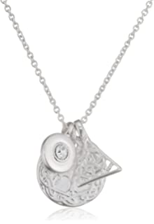Pilgrim Women Silver Plated Pendant Necklace - 321816031 0so31