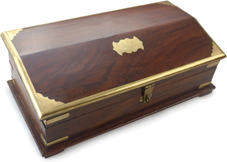 Buen Pack Caja de Madera Caja de Madera Rosewood Colonial Aspecto Envejecido con Compartimento Oculto y Cerradura integrada (Regular): Amazon.es: Hogar
