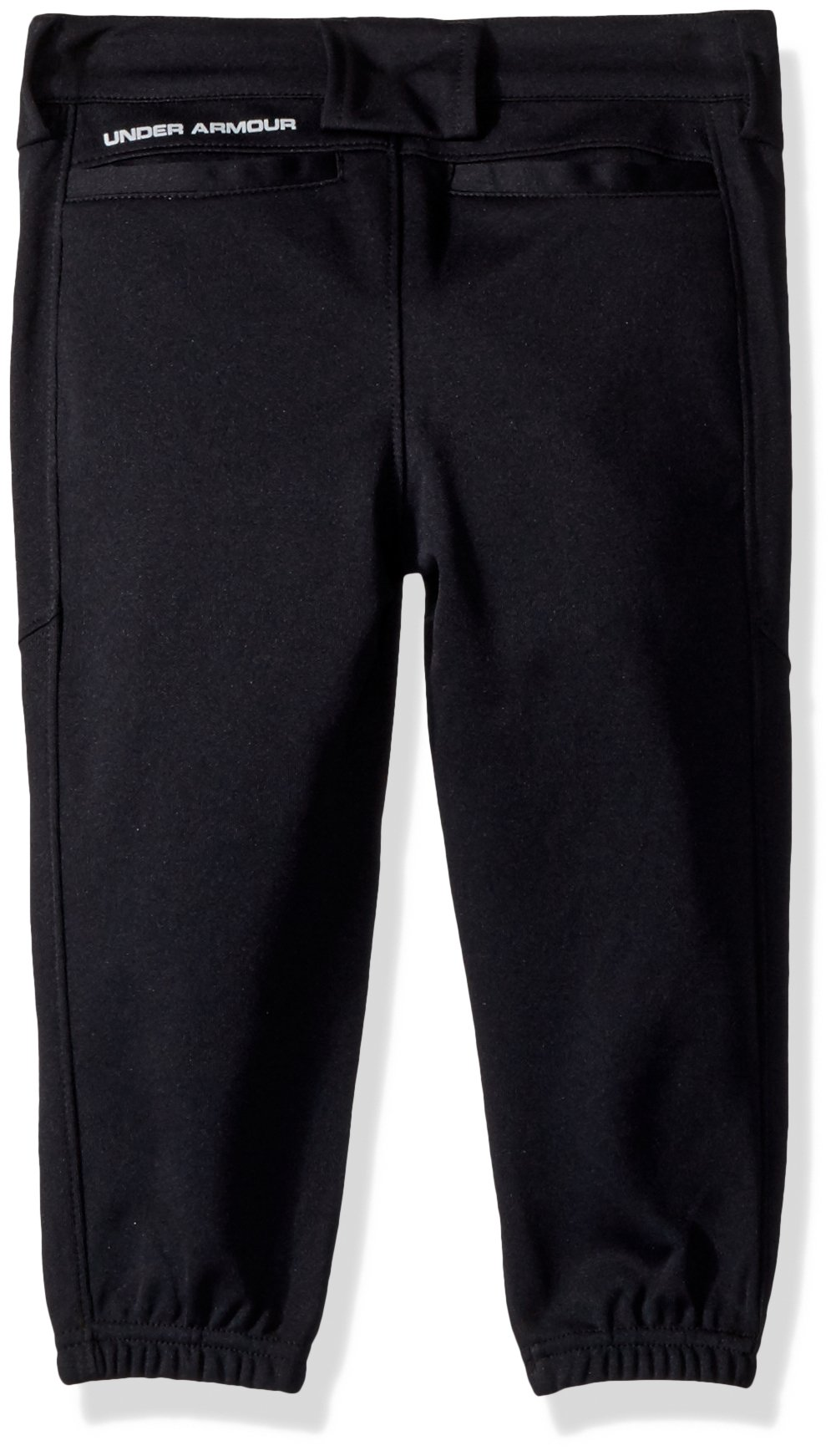 Under Armour Girls' Base Runner Softball Pants, Black (002)/Overcast Gray, Youth Medium by Under Armour (Image #2)