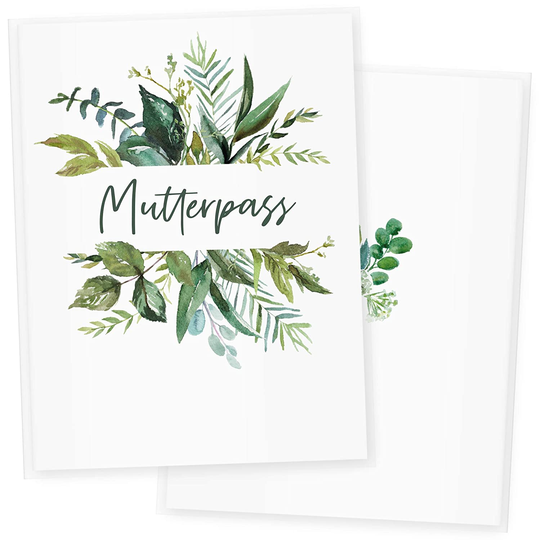 Mutterpass DE, Blumen 1 Sch/öne Geschenkidee f/ür Babyparty Mutterpass H/ülle Mutterpassh/ülle 3-teilig Watercolor