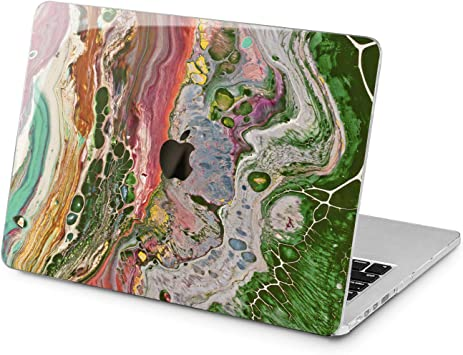 "For MacBook Retina Pro 13 15/"" Air 11 13/""Painted Marble Pattern Hard Case Cover"