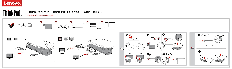 Lenovo Mini Dock Plus with USB 3 0 (433815U)