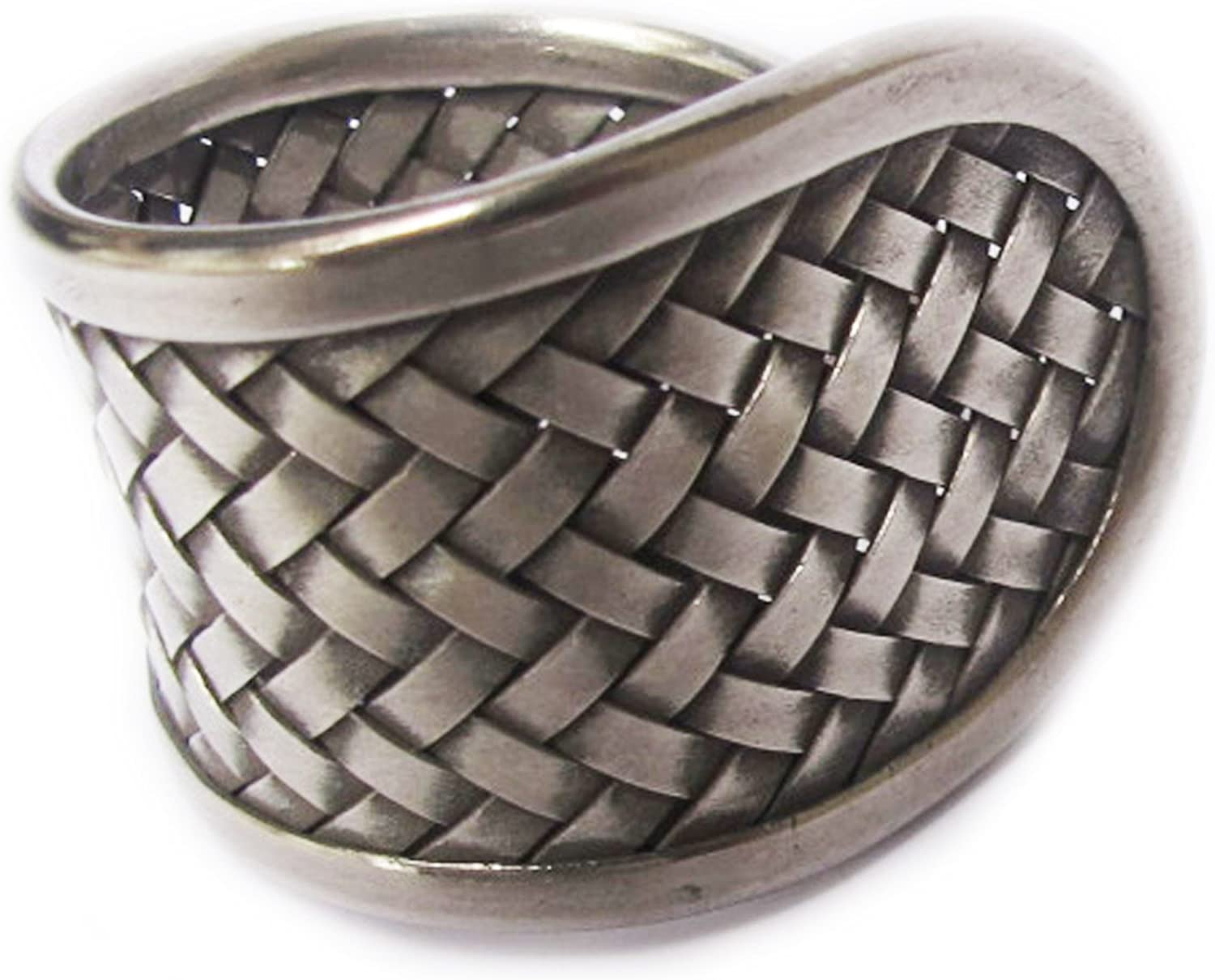 KAREAN HILL TRIBE BOX 13-102 Cool Woven WEIGHT 9.57G PURE 99.5/% NICE CLASSIC GENUINE WOVEN THAI KAREN HILL TRIBE SILVER RING SIZE NO.8 BY HANDMADE Adjustable 8-12