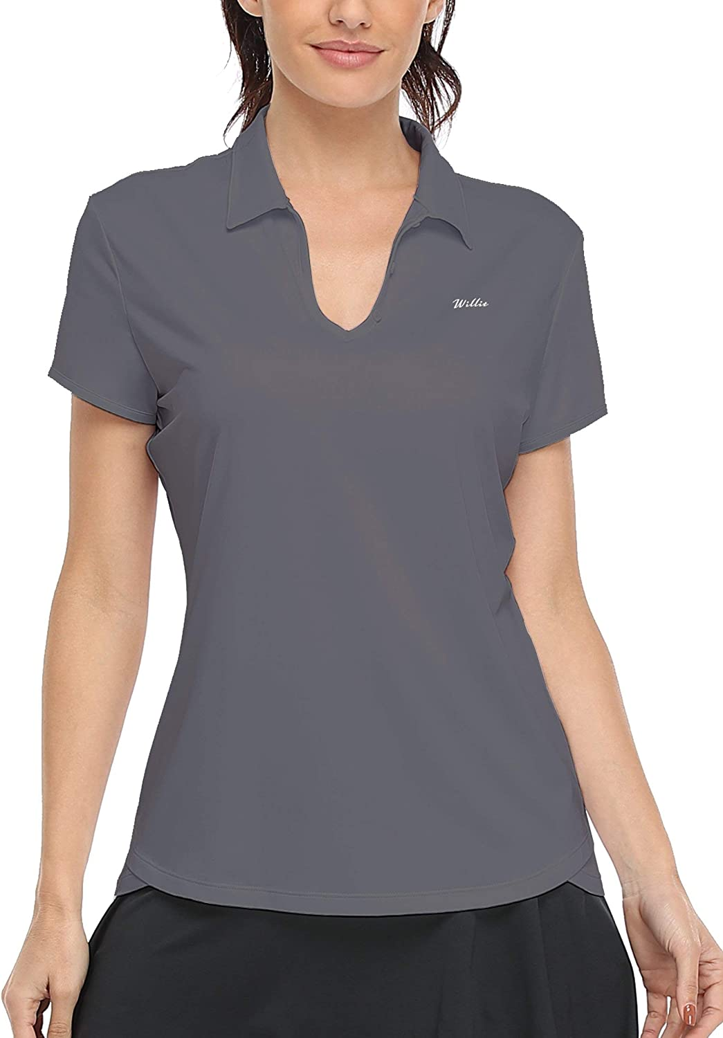 Willit Women's Tennis Shirts Golf Polo Shirts Short Sleeve Quick Dry Active Workout Shirts UPF 50+ Running Tops : Sports & Outdoors