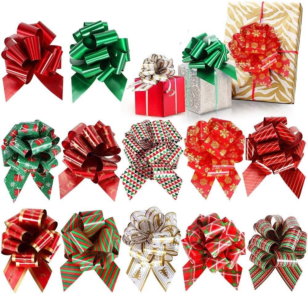 Tacobear 24pcs Pull Bows Red Gift Ribbon Gift Wrap Ribbon Pull Strings For Gift Wrapping Decoration Christmas Wedding Party Valentine S Day And Birthday Gift Wrapping Amazon Co Uk Kitchen Home