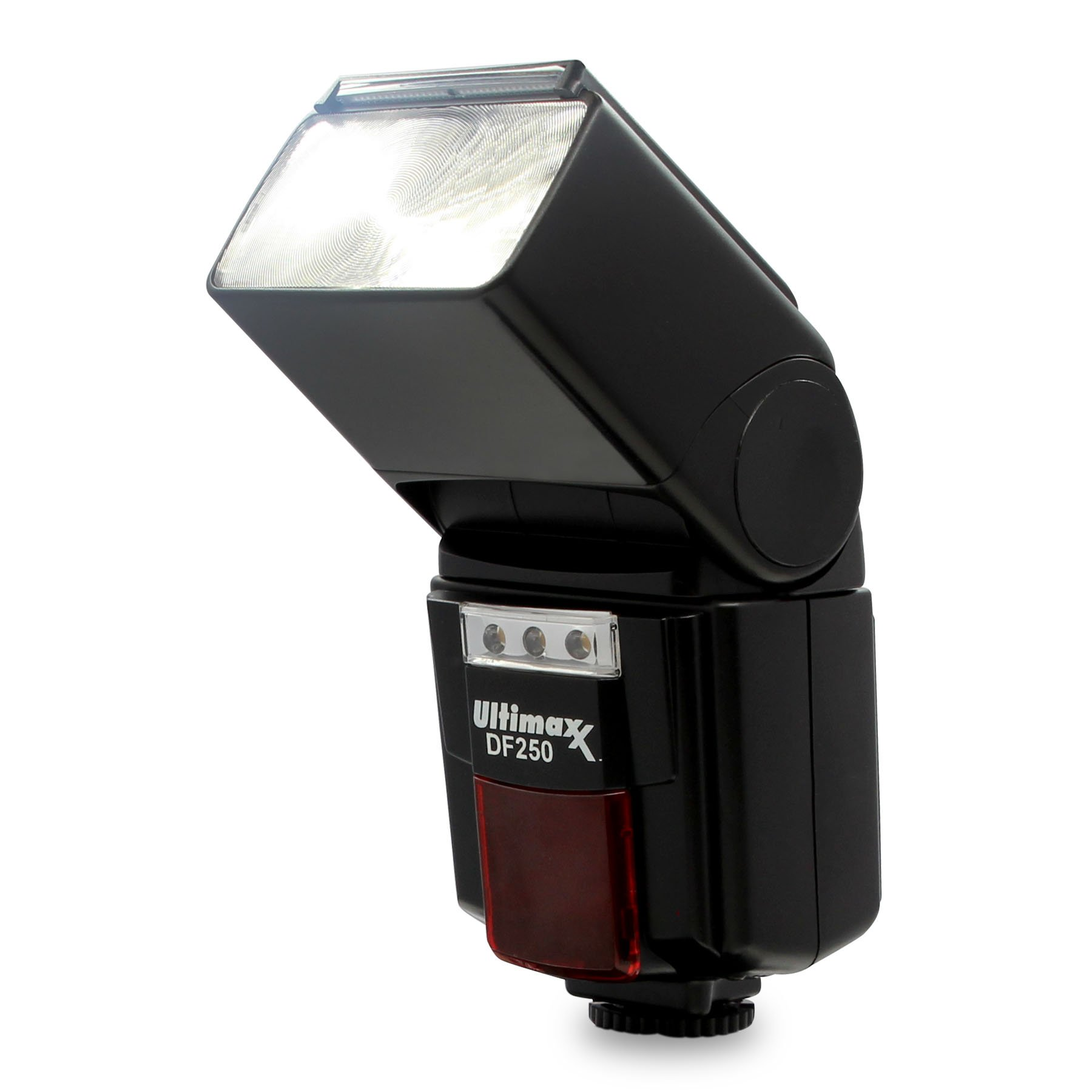 Ultimaxx High Power Automatic Flash with LED Video Light for Canon Nikon Panasonic Olympus Pentax and Other DSLR Camera-Digital Cameras with Standard Hot Shoe