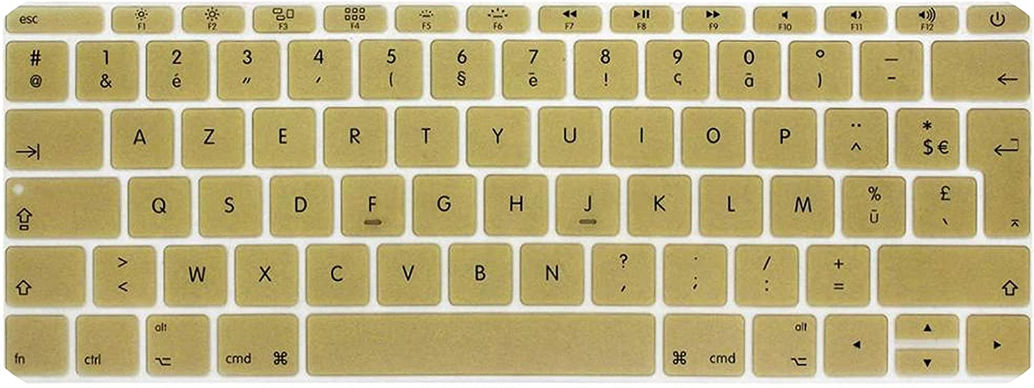Film Pour Clavier Azerty French UK Silicone Keyboard Cover Skin for MacBook New Pro 13 A1708 2016 Version,No Touch Bar for 12 A1534 Retina-SkyBlue