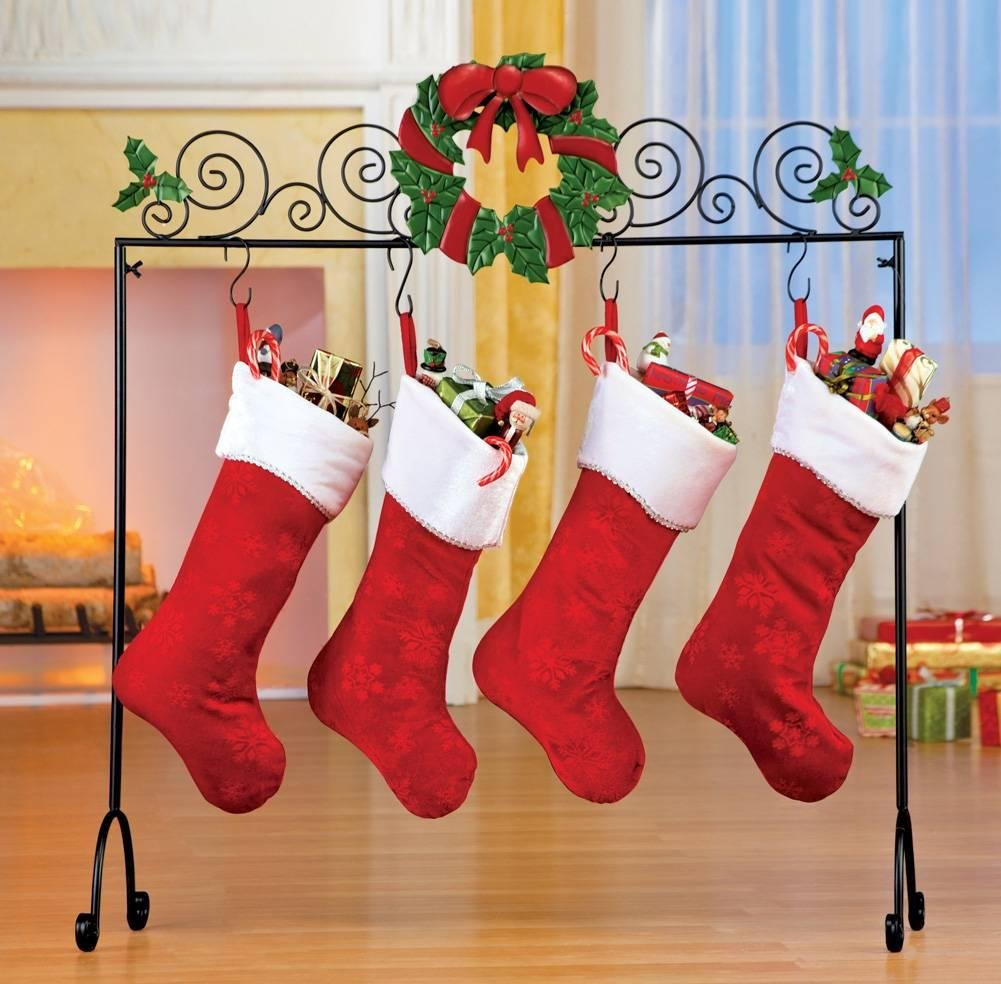 Floor Xmas Stocking Holder Stand