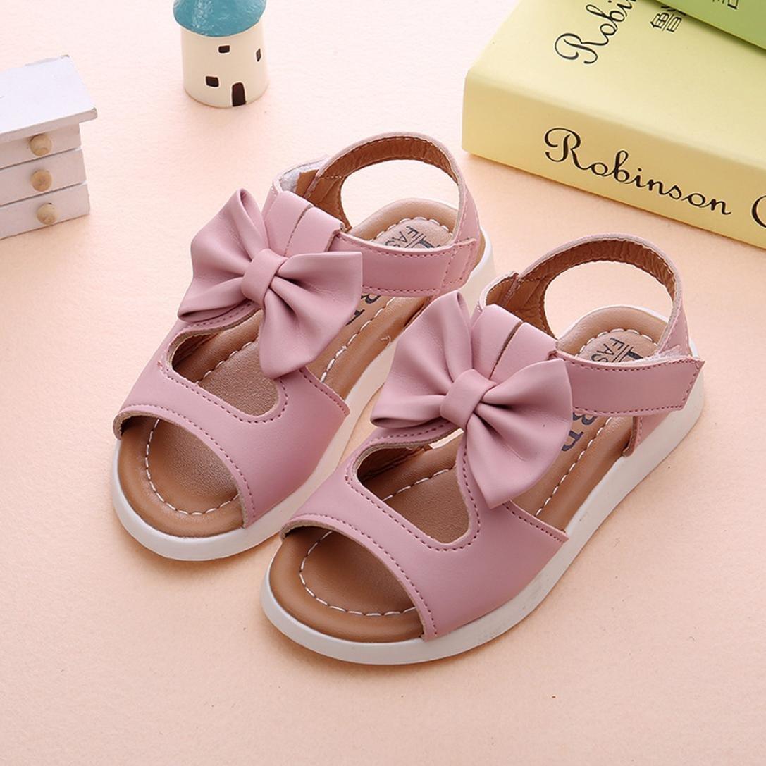 ae79ad2d4 Sandalias niña ❤ Amlaiworld Zapatos bebés Niños Sandalias de verano para niñas  chica Zapatillas planas Bowknot zapatos princesa calzado  Amazon.es  ...