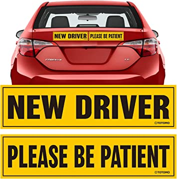 12x3″ New Driver Reflective Magnetic Car Vehicle Bumper Sign Safety Magnet