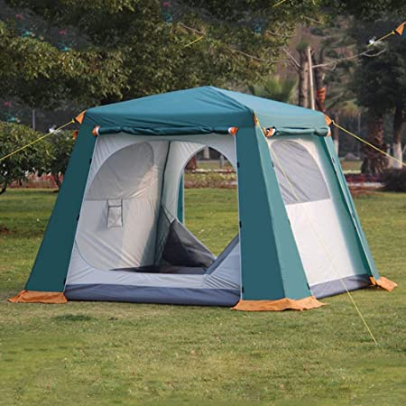 WOHAO La Tienda del Invernadero Camping al Aire Libre Tienda de campaña 4-6 Personas Tienda de campaña - Tienda de la bóveda Verde: Amazon.es: Hogar