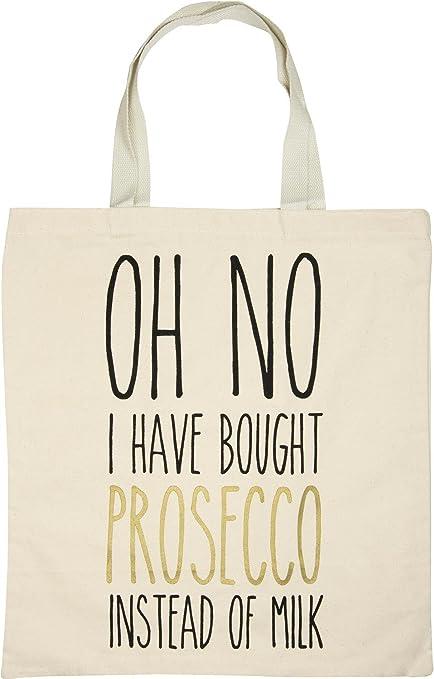 styleBREAKER Bolsa para Compras con Frase Estampada «OH NO I ...