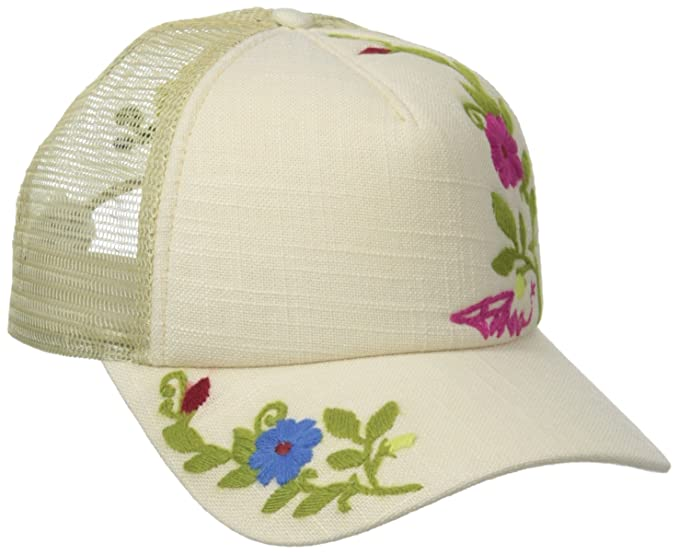 1588e366fdecd7 Amazon.com: prAna Living Prana Embroidered Trucker, Stone, One Size ...