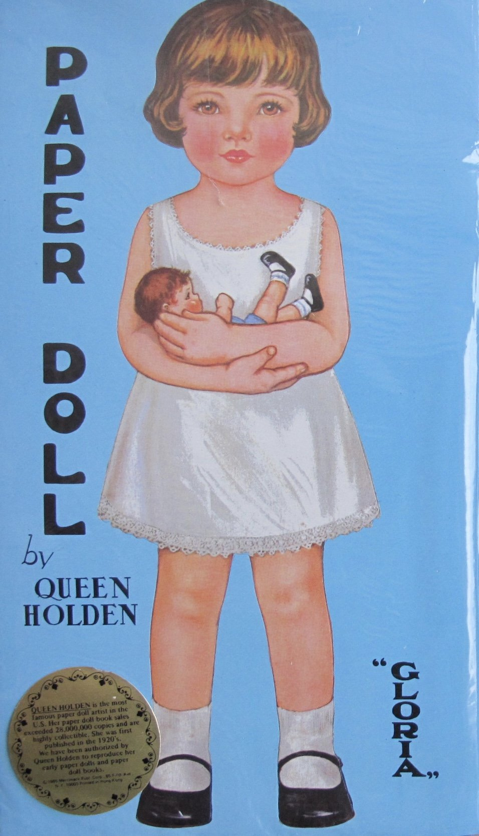 Gloria & Sonny Paper Dolls Book (Uncut) by Queen Holden w 2 Dolls & Fashions (1985 Merrimack)