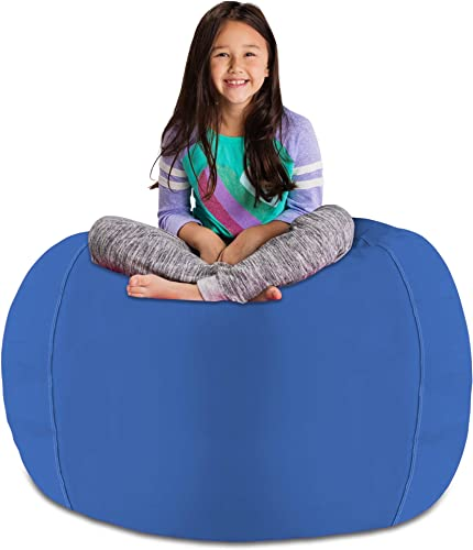 Posh Stuffable Kids Stuffed Animal Storage Bean Bag Chair Cover