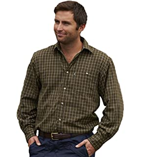 623dd8f507a Rydale Men s Thick Fleece Lined 100% Cotton Button Up Checked Shirt ...