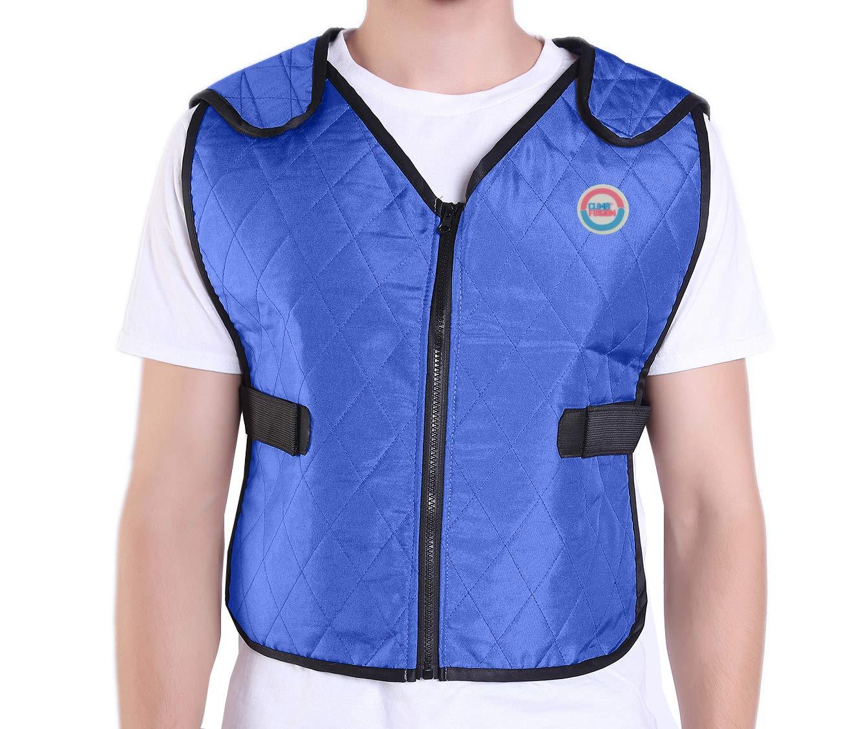 Climafusion Ice Vest Sports Vest for Women Men Cooling Vest for Summer, Adjustable (M/L, Blue)