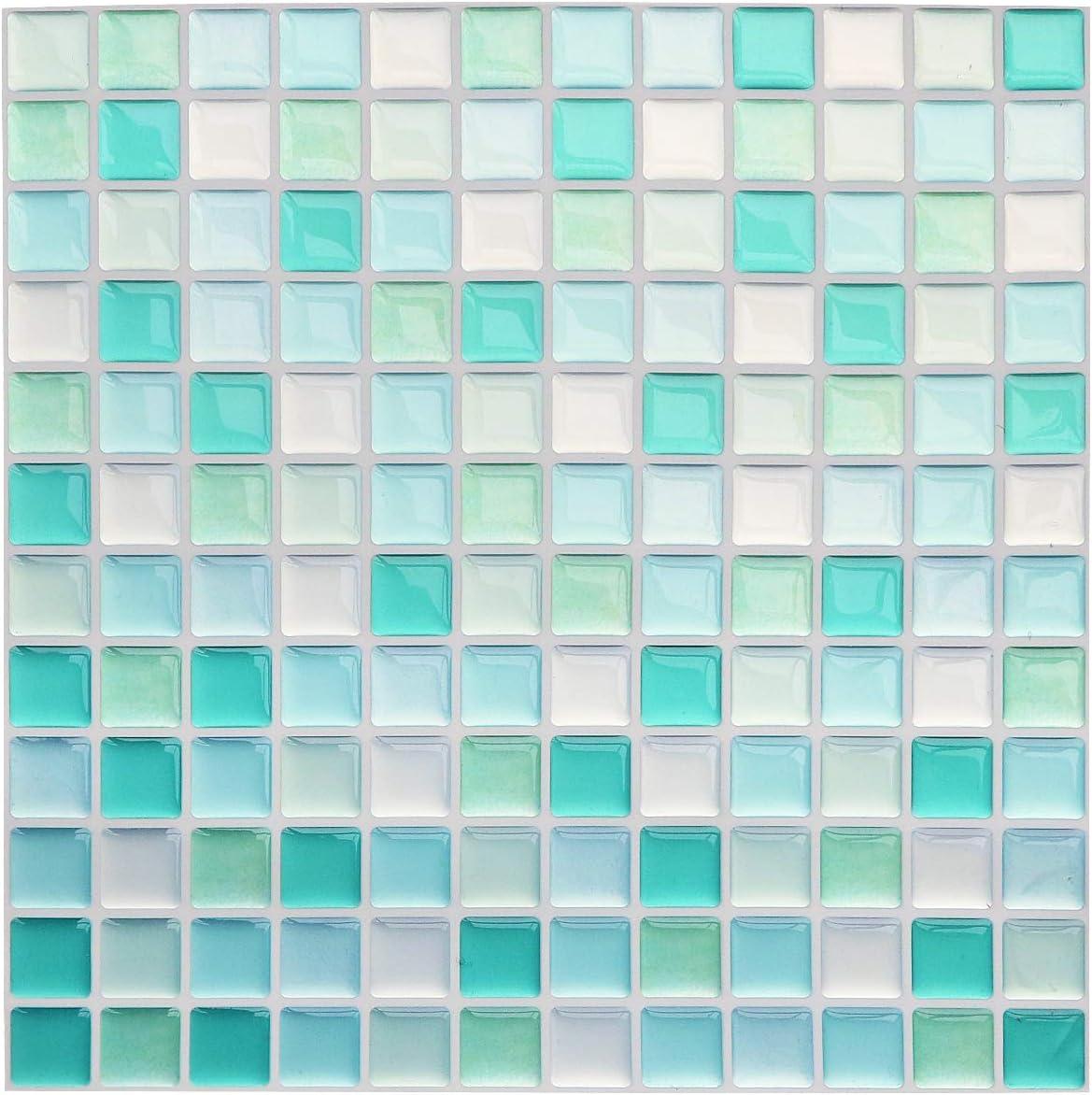 Self Adhesive Mosaic Tile 3D Sticker Wall DIY Kitchen Bathroom Decoration FI